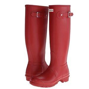 Red Matte Hunter Boots